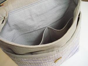 裂き織のショルダーバッグ (販売済)