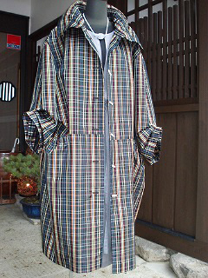 黒黄八丈リメイクコート(販売済)