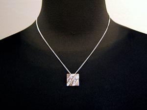 杢目銅ネックレス平角