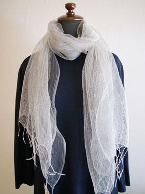 絹ショール くもの糸2