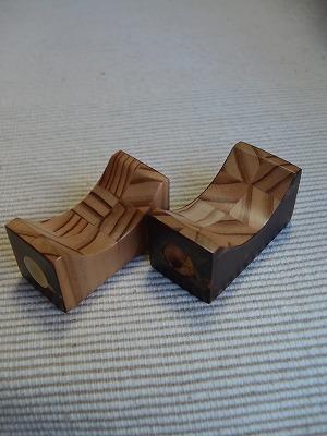 杉×樺箸置き