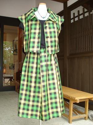 紬スーツ No726