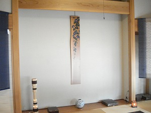 杉板絵 「朝顔」