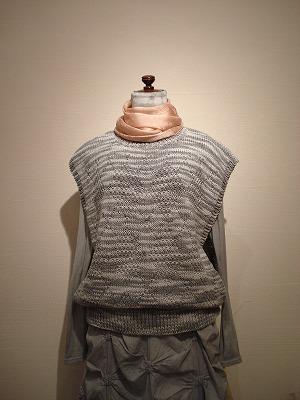 炭染め-手編みベスト