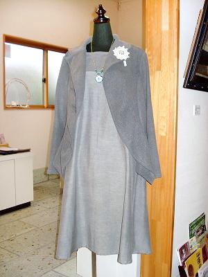 炭染めジャケット(ふわひら)