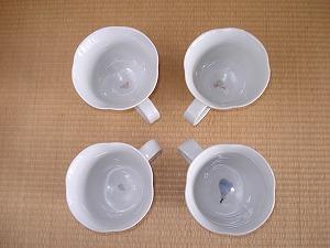 輪花マグカップ(磁器)